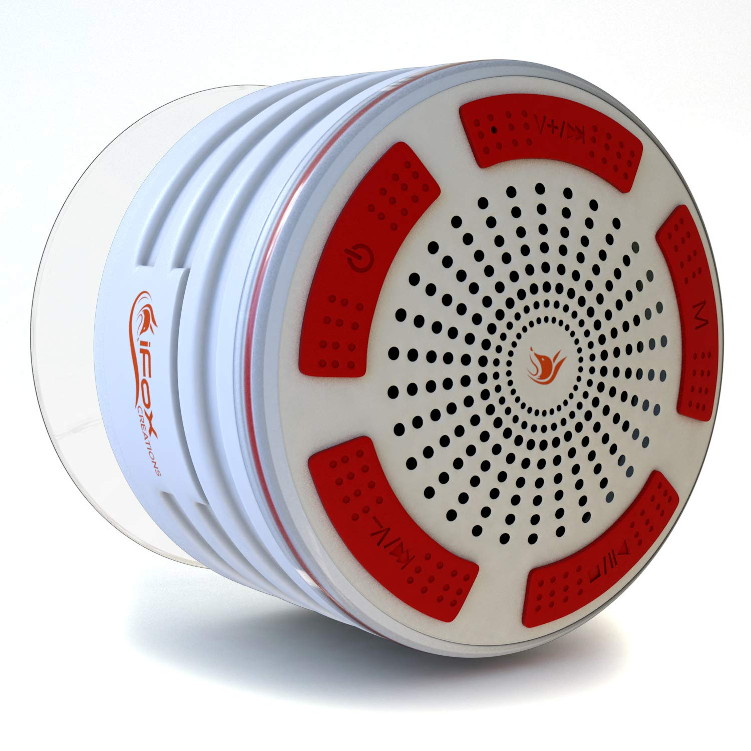 ifoxcreations iFox - iF013 Bluetooth Shower Speaker with FM Radio - Certified Waterproof and Wireless Pairing to All Bluetooth Devices for iPhone, iPad, iPod, PC - Black iFox Creations