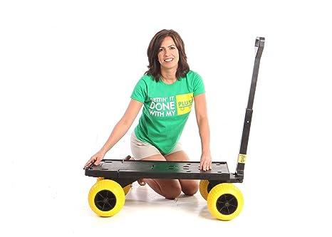Cama plana carro de Yard movimiento Dolly Granja Carros y Vagones con ruedas para la arena