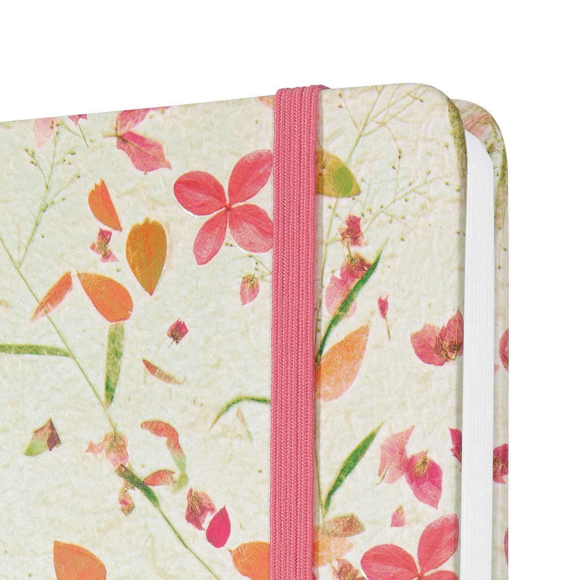 beige e rosa A5 motivo fiori copertina rigida formato ca SIGEL J0307 Agenda settimanale Jolie 2020