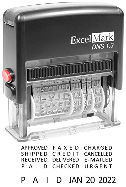 Amazon ExcelMark Self Inking Stock Message Date Stamp