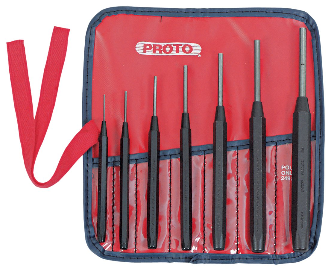 Stanley Proto J47A Pin Punch Set, 7-Piece