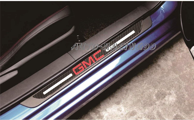 GMC Car Scuff Plate Door Sill Cover Panel Step Protector Guard 48.5CM Carbon Fiber 2pc