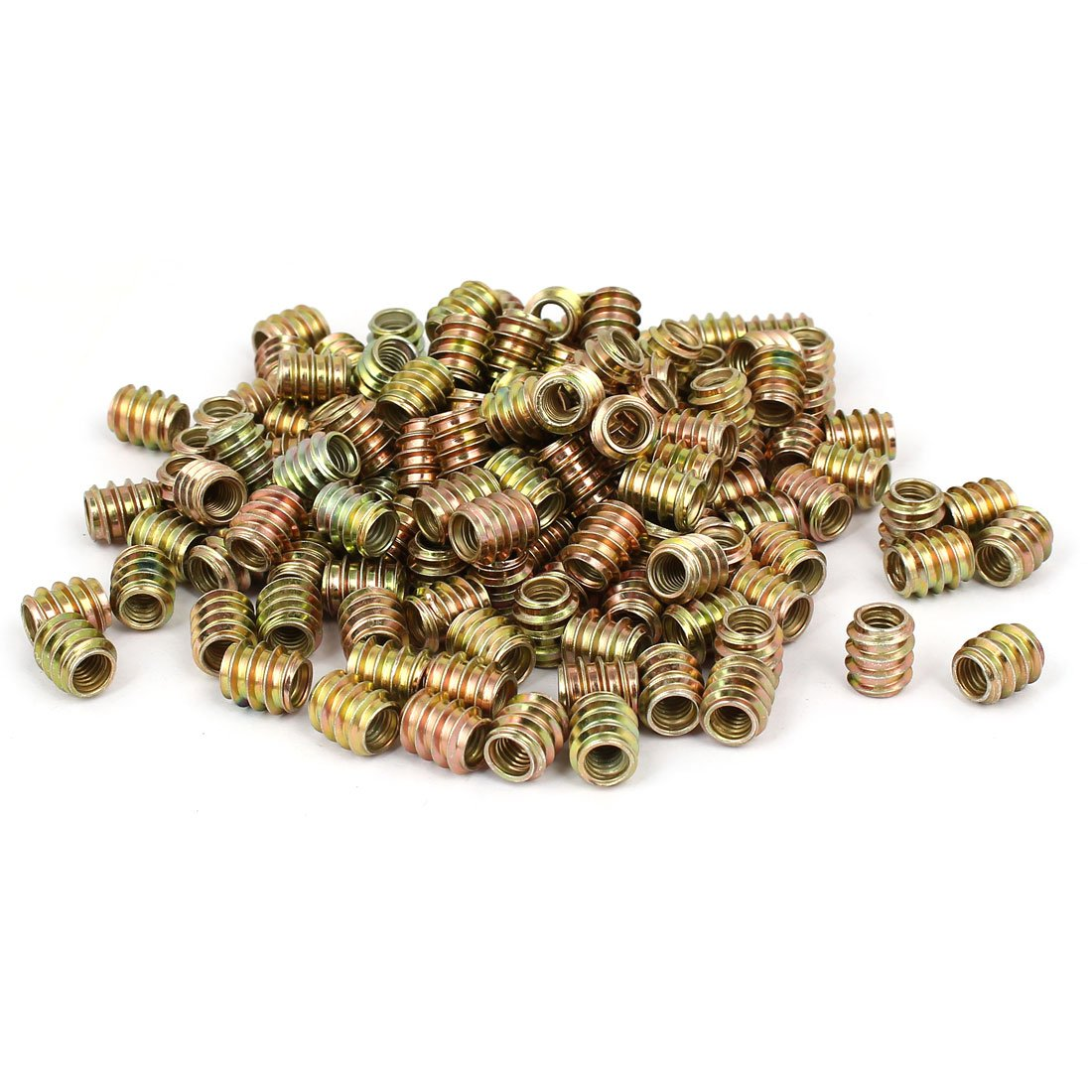 uxcell Wood Furniture M6 x 12mm Insert Fixing Screw E-Nut Bronze Tone 200pcs by uxcell