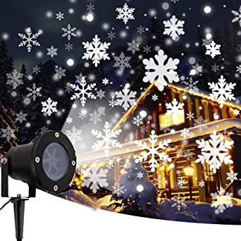 Proyector de Navidad copo de nieve proyector de Navidad al aire ...