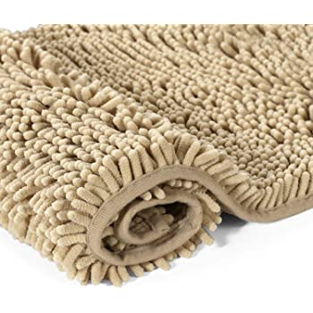 Amazon Com Luxury Taupe Beige Microfiber Chenille Loop Bath Rugs