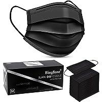 Black Disposable Face Mask For Women Men Disposable Face Masks Breathable 50pcs 3 Ply Teens Disposable Protection Mask…