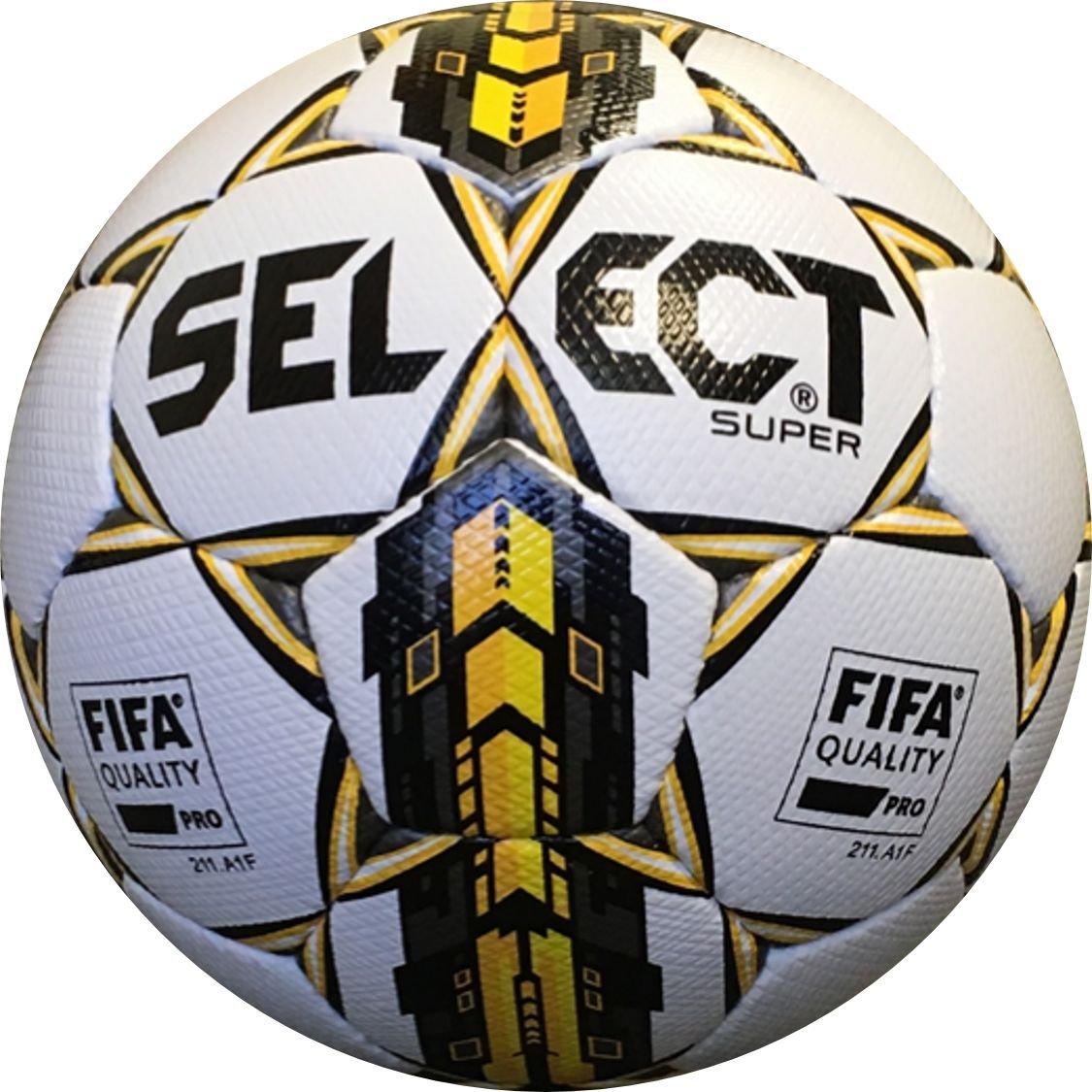 Seleccione Super FIFA balón de fútbol, tamaño 5, Color Blanco ...