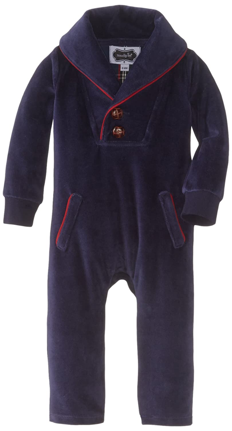 Mud Pie Baby-Boys Newborn One Piece Velour