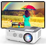 1080P Projector, FANGOR 2021 WiFi Projector Bluetooth Support, 7500 Lux Movie Projector 4K Video Support, Home Projector Comp
