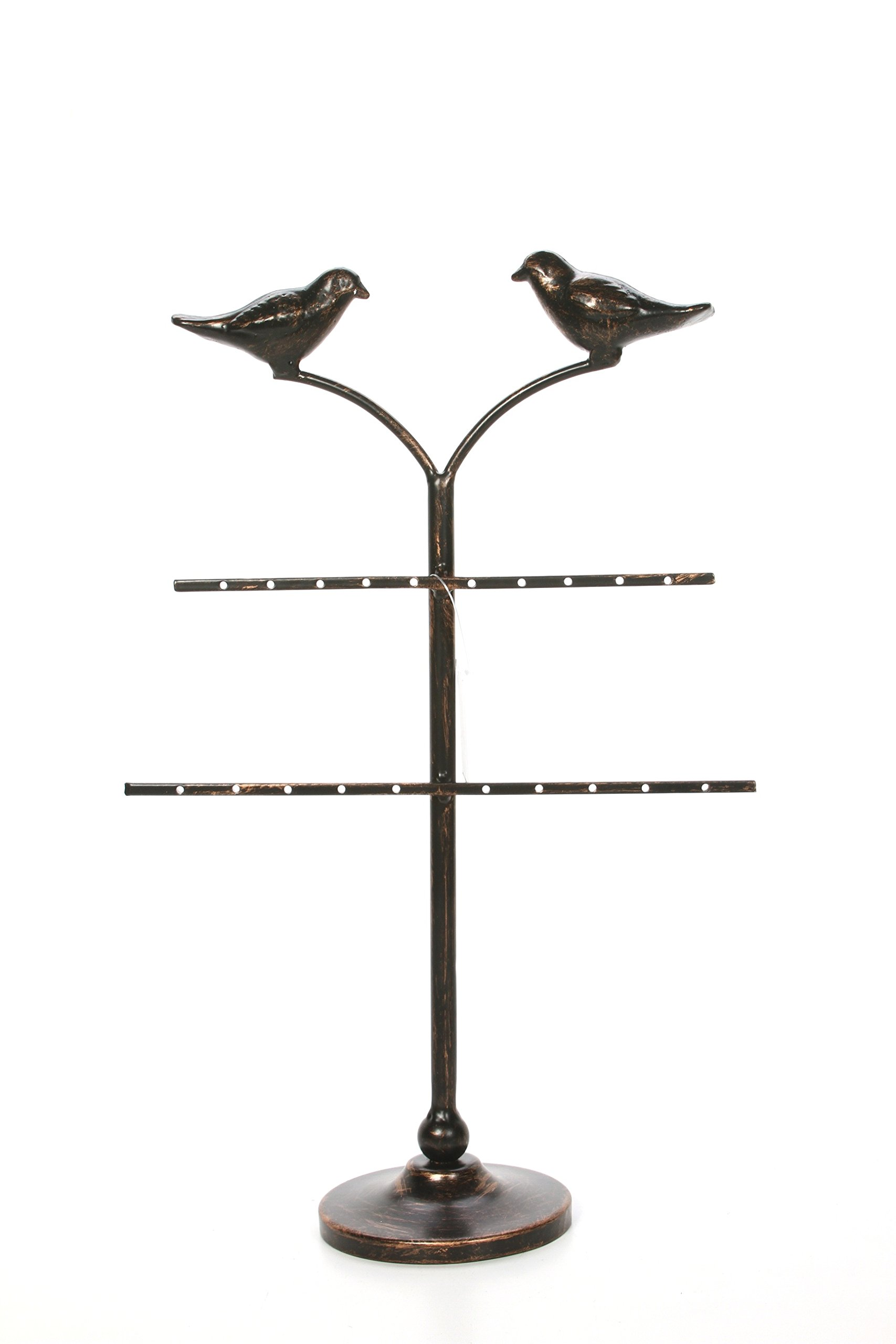Hosley 20.25'' High, Decorative Tabletop Cardinal Birds Jewelry Chain Ring Knick Knack Stand. Ideal Gift for Wedding, Home, Party Favor, Spa, Reiki, Meditation, Bathroom Settings O9