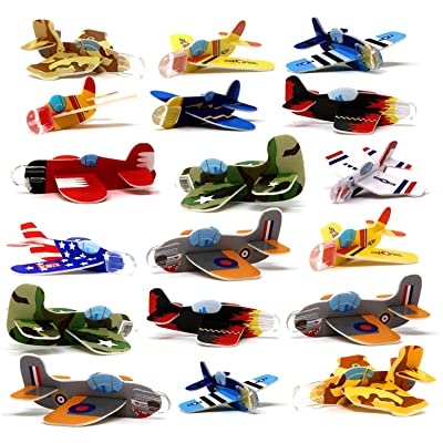 4E's Novelty Mega Assortment of 72 Mini Flying Glider Planes, Great Party Favors Toys for Kids, Holiday & Birthday Parties Supplies Goody Bag Filler: Toys & Games