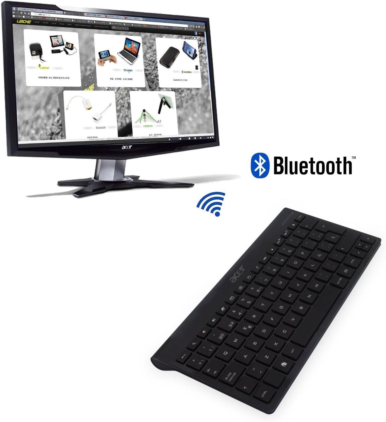 Teclado Bluetooth ESPAÑOL KT-1082 para ACER ICONIA Tab A100 A200 A500 A700 W510 W511 W700 Google Nexus 4 7 10 Sony Xperia Z