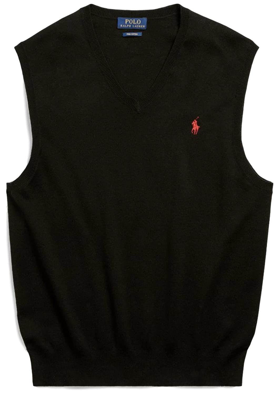 4bbd2424 Polo Ralph Lauren Mens Pima Cotton Vest (X-Large, Polo Black)