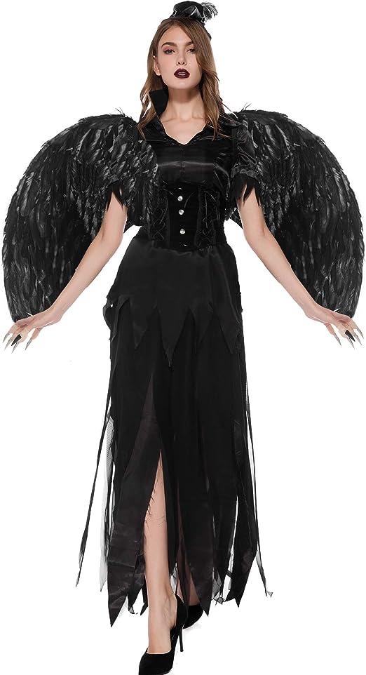 TTWL Disfraz De ángel Oscuro De Vampiro De Halloween S-XL Cosplay ...