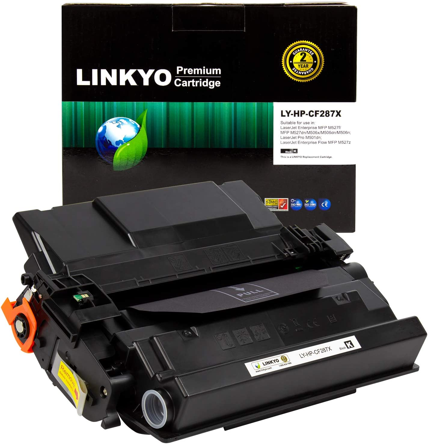 LINKYO Compatible Toner Cartridge Replacement for HP 87X CF287X (High Yield, Black)