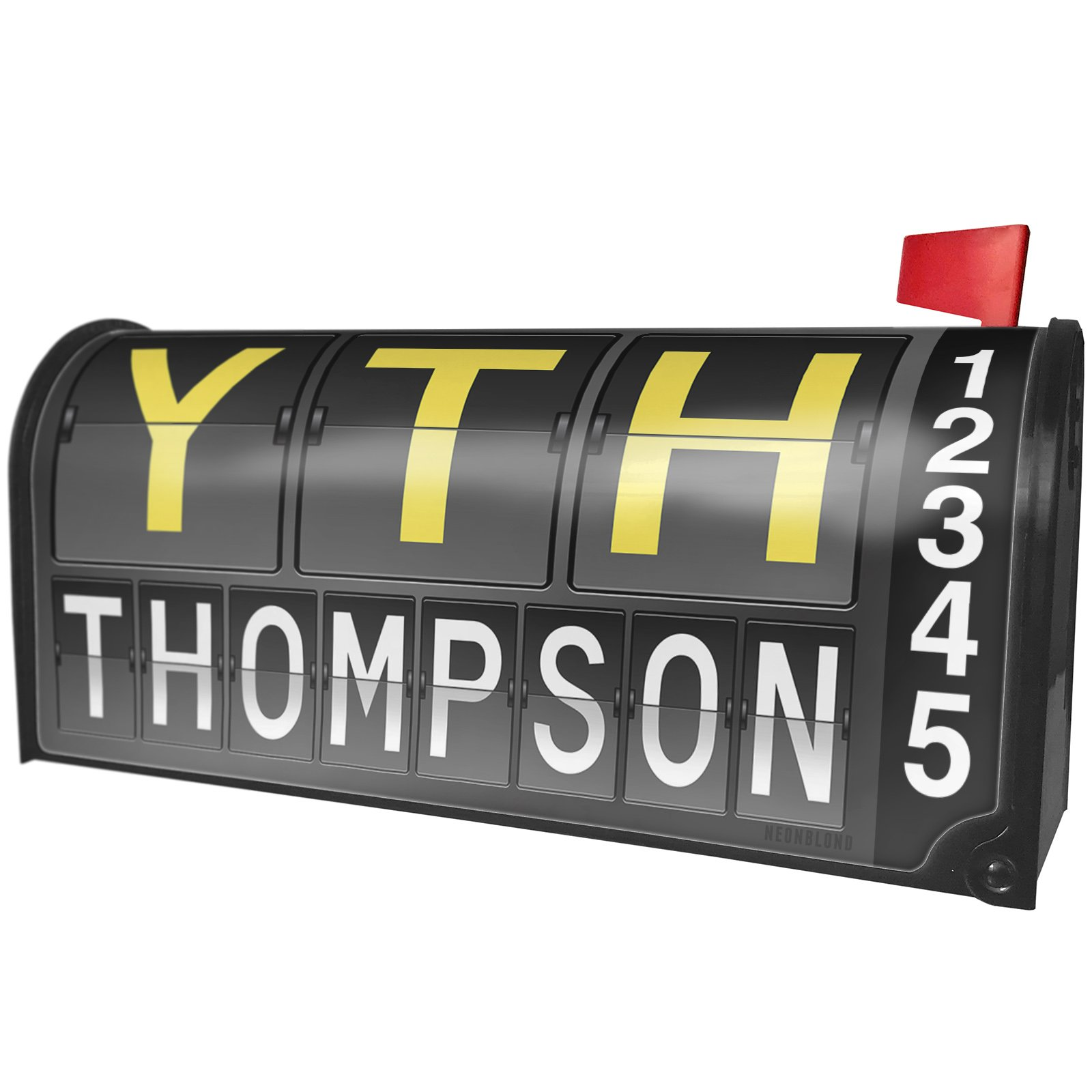 NEONBLOND YTH Airport Code for Thompson Magnetic Mailbox Cover Custom Numbers