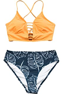 e14c3472f28 Amazon.com: CUPSHE Women's Falbala Design Bikini Set: Clothing