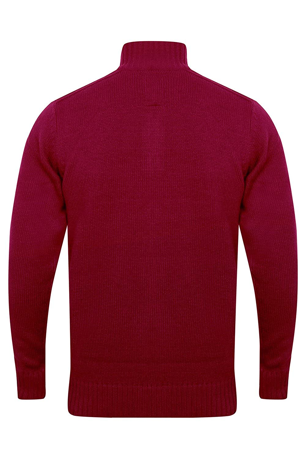 Mens Knitted Jumper Kensington Eastside Pullover Sweater Top Funnel Neck Winter