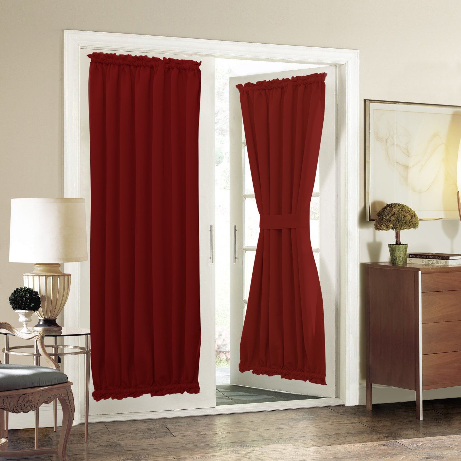 Door Panel Curtains : French door curtain panel for privacy aquazolax solid