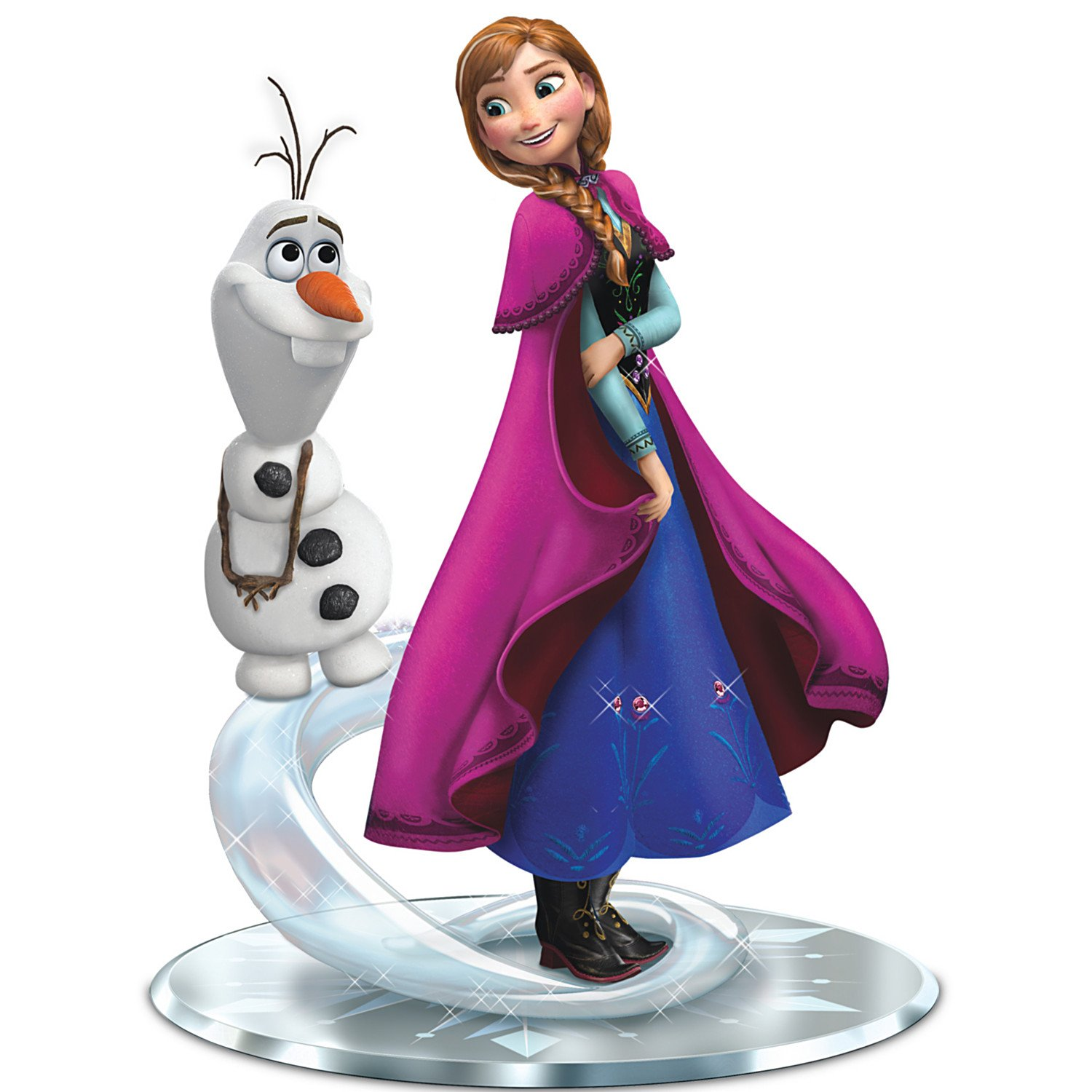 Anna and Olaf Figurine: Do You Want To Build A Snowman?