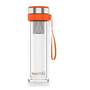 Oz Glass Steel Vitalitea With Stainless Tea Travel Insulated Mug Bonvivo Infuser16 KJF1Tlc
