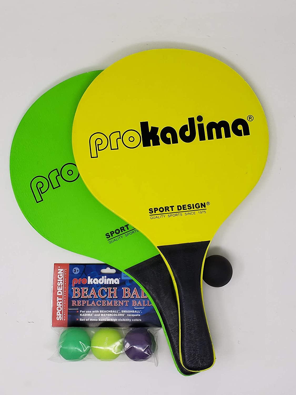 Pro Kadima Paddle Raquet Ball Set-Solid Colors-Bundle Pack (4balls Included)