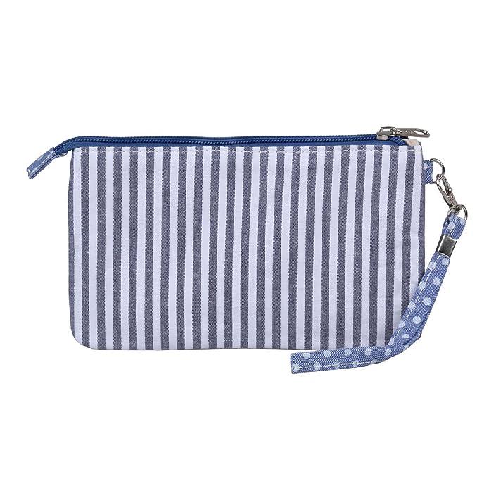 Amazon.com: Damara Womens Verticle Stripe cierre – Monedero ...