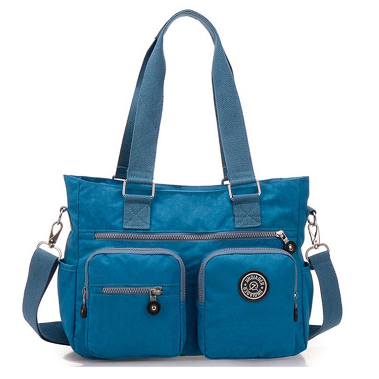 Tiny Chou Multipurpose Water Resistant Premium Nylon Tote Handbag Cross Body Shoulder Bag for Women