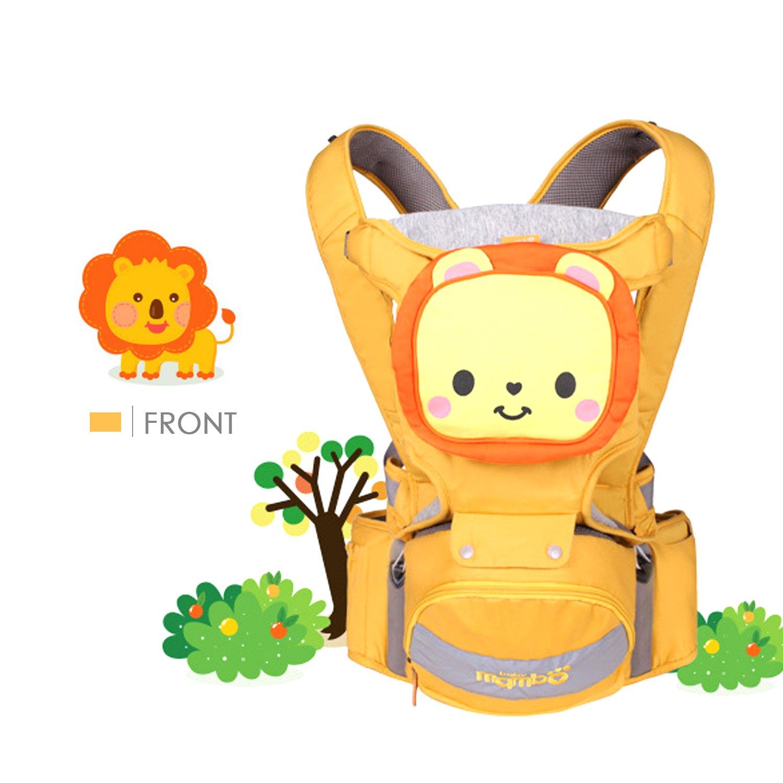 SONARIN 4 en 1 de dibujos animados multifunción Hipseat Baby Carrier, Portador de bebé,Ergonómico,Respirable,100% algodón, un tamaño para todos, fácil de llevar y fácil Mamá, acogedor y calmante para bebés, adaptado al crecimiento de su hijo, 100% GARANTIA