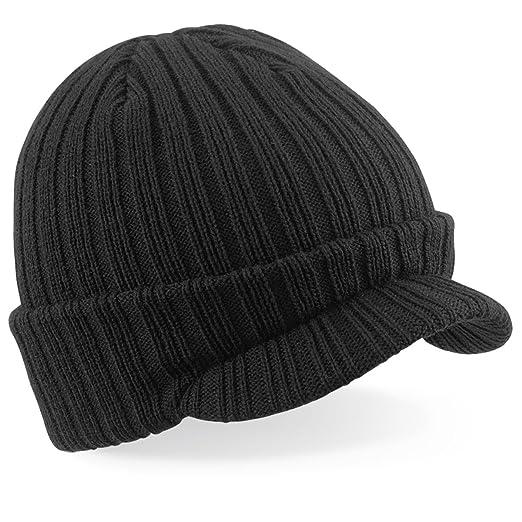 Amazon.com  Beechfield mens Beechfield Warm Peaked Wooly Beanie Cap ... 06f40480b8a