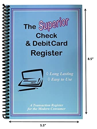 Amazon.Com : The Superior Check And Debit Card Register - Blue 5.5