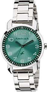 Fastrack Women's Green Dial Metal Band Watch - 6111SM02