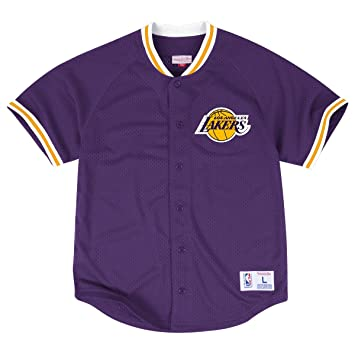 ddc8e2966 Los Angeles Lakers Mitchell   Ness  quot Seasoned Pro 2 quot  Men s Purple Jersey  Shirt