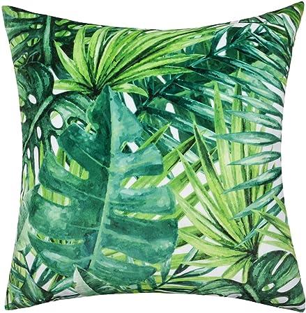 12 x 18 Inch En velours d/écoration int/érieure m Housse de coussin JWH lit sofa Polyester Motif feuille tropicale Taie d/'oreiller d/écorative imprim/ée pour canap/é