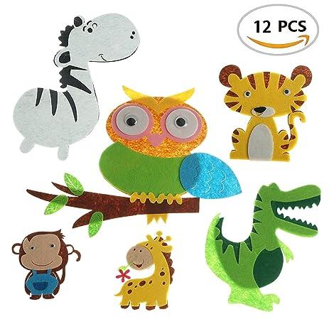 Amazon non woven felt zoo animal cutouts shapes for handcrafts non woven felt zoo animal cutouts shapes for handcrafts art projects home classroom decor set publicscrutiny Gallery