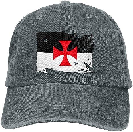 gatetop Gorra de béisbol Ajustable de la Bandera de los templarios ...
