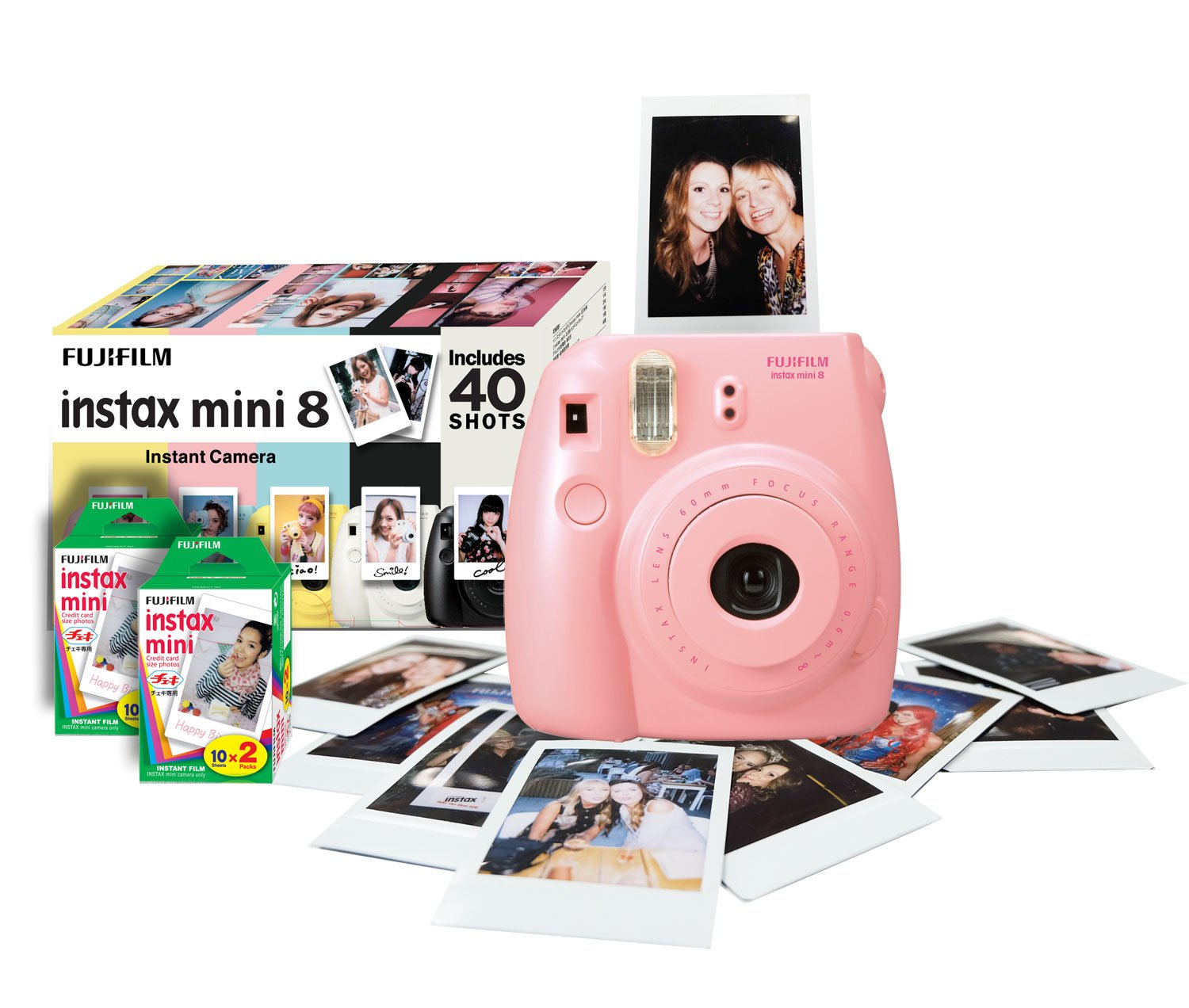 Instax Mini 8 Instant Camera Bundle with 40 Shots: Amazon.co.uk ...