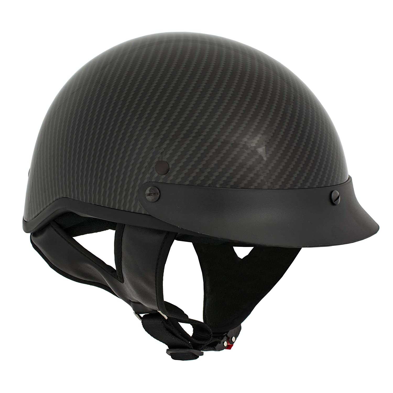 Milwaukee Performance Helmets Mens Size half helmet SHINNY BLACK, XS