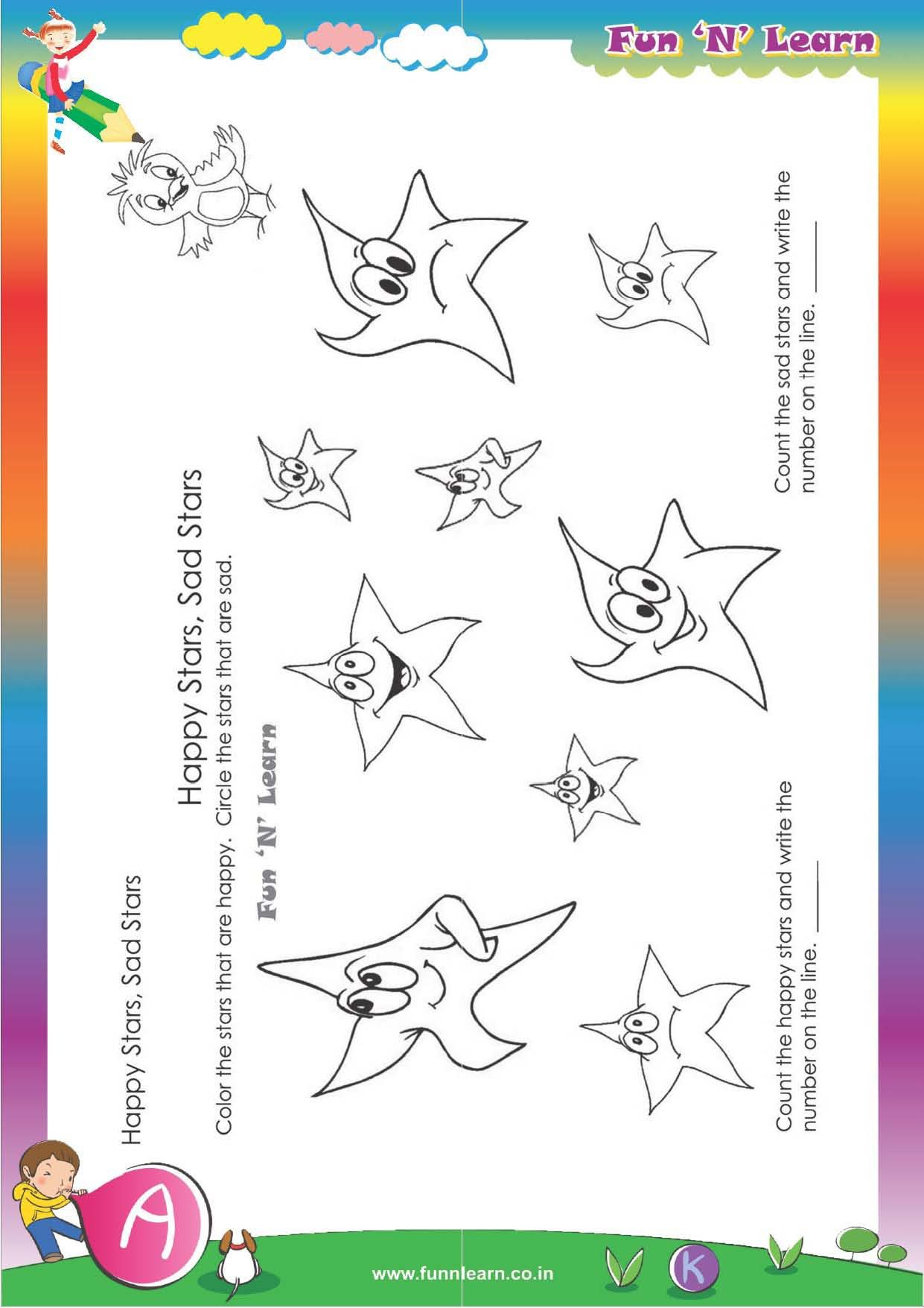 Buy Fun N Learn Worksheets Grade Nursery 3 Months Bundled Package
