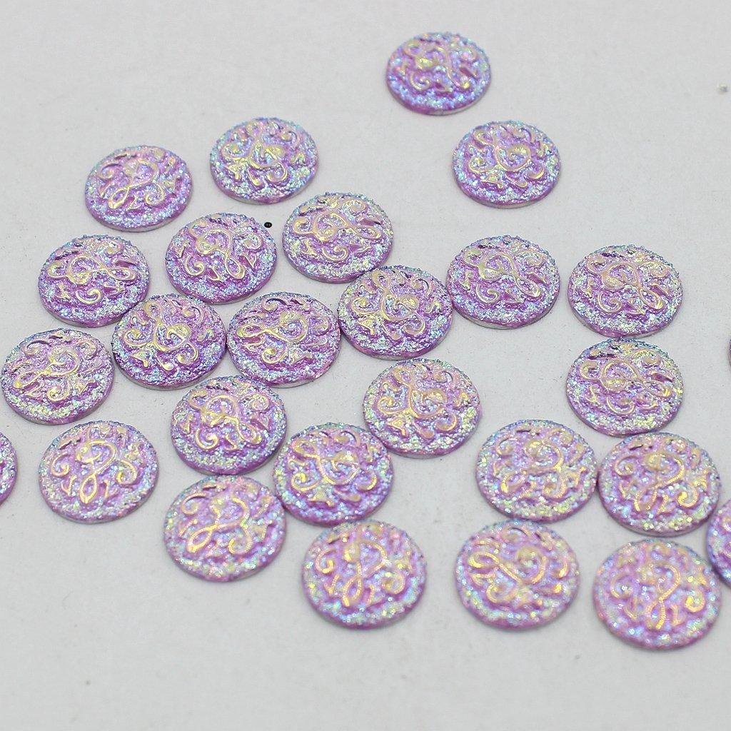 B Baosity 50Piezas Beads Artesanías para Scrapbooking Álbumes y Pegatinas Adornos DIY - Luz Púrpura: Amazon.es: Juguetes y juegos