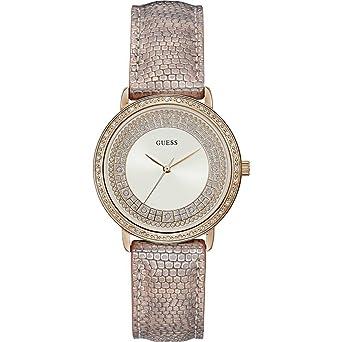 Willow Leder Guess 36mm Armband Damen Armbanduhr Pfirsich wnOPk80