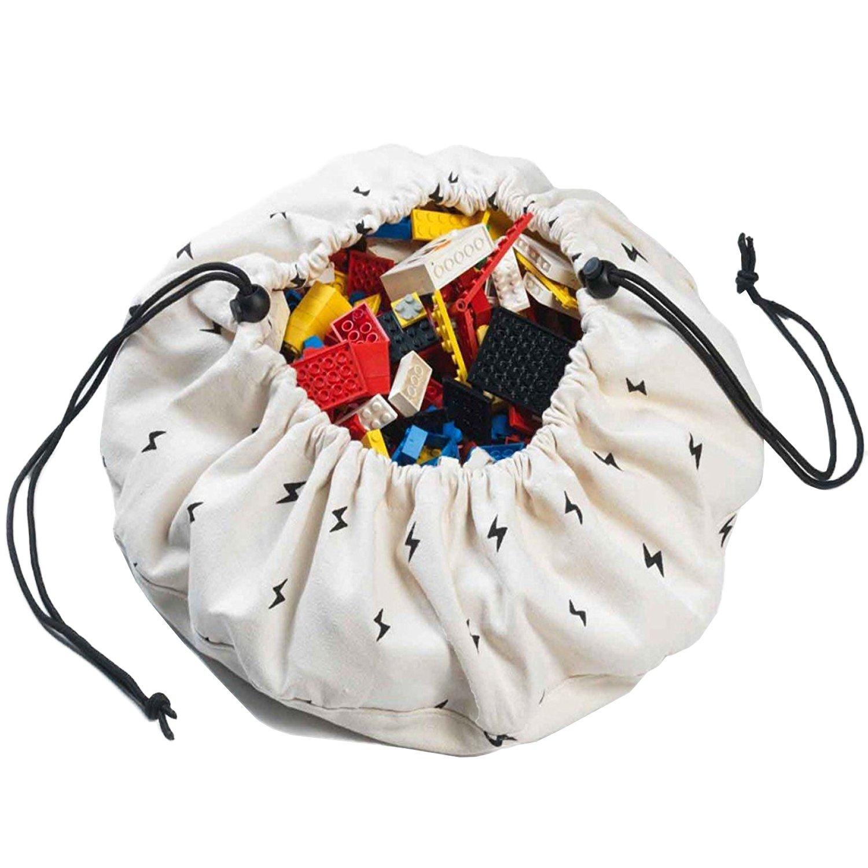 Play&Go Mini Children Thunderbolt Play Mat and Toy Organizer Storage 16