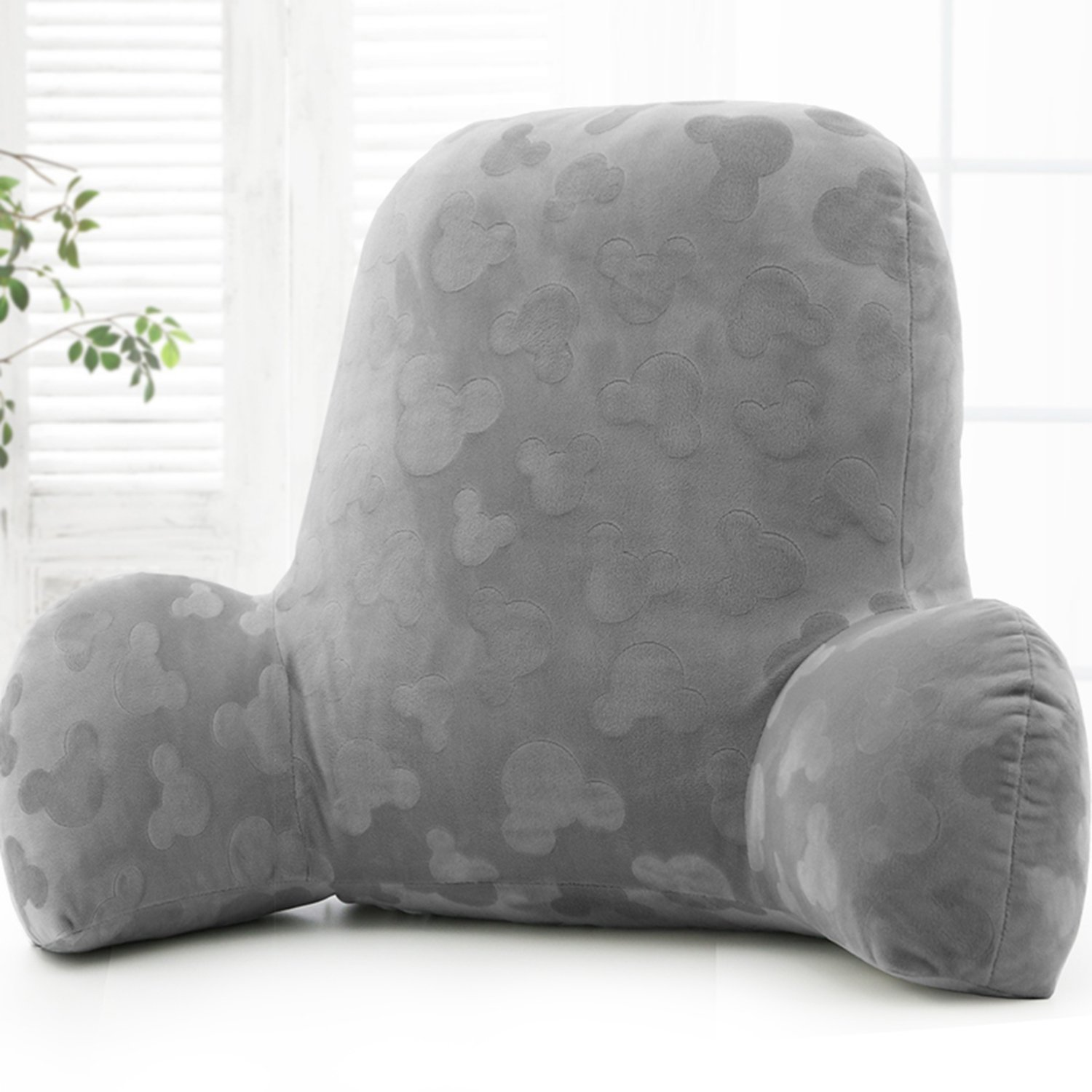 Qianhe Embossed plush Reading Pillow - Best Bed Pillow with Arm Reading Bed - Perfect for Teens, and Kids -by (Gray)