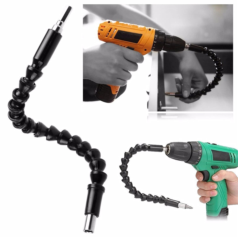 Flexible Power Bit Drill Extension 1//4 Hex Shank ZK14 12 SUYIZN 2pcs 300mm