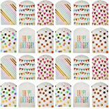 UNIQOOO 72Pcs Assorted Gold Foil Paper Treat Bags Bulk, 100% Food Safe, Pastry Cookie Bags, For Easter Kids Birthday…