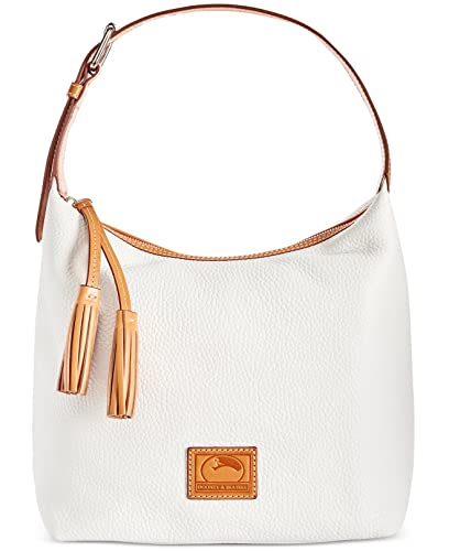 5dd010a77 Amazon.com: Dooney & Bourke Paige Sac Leather Hobo (White): Shoes
