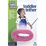 Baby Buddy Toddler Harness with Tether Leash Safety Strap, Pink,2Count