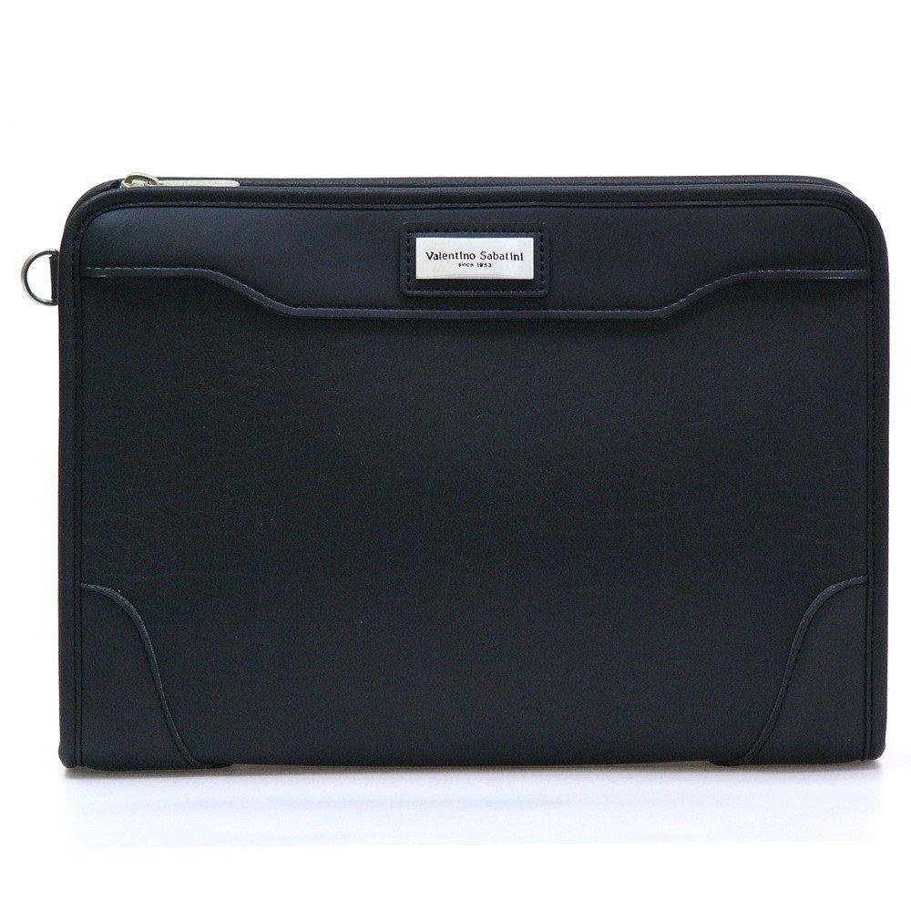 丁寧仕上げ鞄 セカンドバッグ ポーチ 日本製 人気の 本革付属 ヴァレンチノ サバティーニ三角ポーチ ブラック(黒) B00MYQND2K