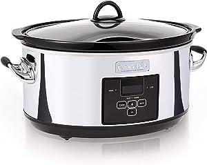Crock-pot SCCPVF710-P Slow Cooker, 7 quart, Polished (Renewed)