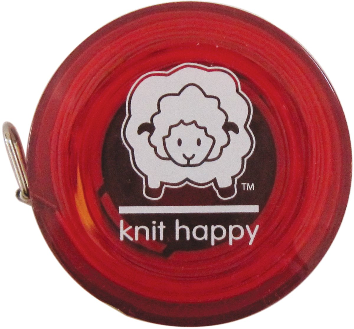 K1C2 Knit Happy Tape Measure-Red KH652-RE